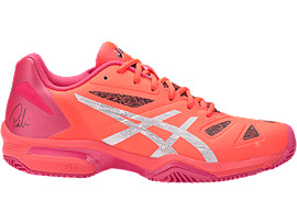 GEL-LIMA PADEL PARA MUJER, Flash Coral/Silver/Rouge Red