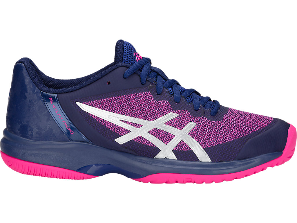 ASICS Gel - Court? Speed Blue Print / Pink Glo Mujer