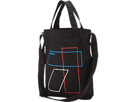 SHOPPING BAG, Black/Graphic Print