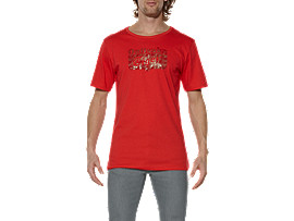 LOGO T-SHIRT	, Red