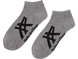 ANKLE SOCKS, Heather Gray/Black
