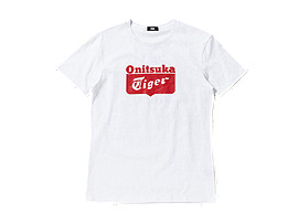 T-SHIRT LOGO, White/Red