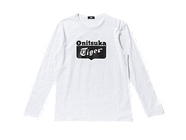 T-SHIRT LS À LOGO, White/Black