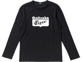 CAMISETA LOGO LS, Black/White