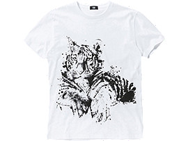 CAMISETA GRAPHIC, White/B