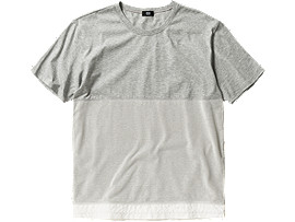 T-SHIRT, Heather Gray/White