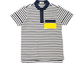 WS POLO SHIRT, White/Navy
