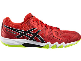 GEL-BLADE 5, Vermilion/Black/Safety Yellow