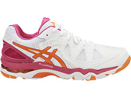 GEL-NETBURNER SUPER 7, White/Orange Pop/Sport Pink