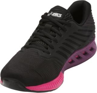 Asics Fuzex Los Zapatos Corrientes De Las Mujeres Negro / Rosa VLARHE