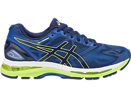 GEL-NIMBUS 19 VOOR HEREN, Indigo Blue/Safety Yellow/Electric Blue