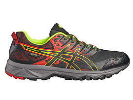 GEL-SONOMA 3 G-TX POUR HOMMES, Vermilion/Black/Safety Yellow