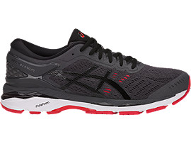 GEL-KAYANO 24, Dark Grey/Black/Fiery Red
