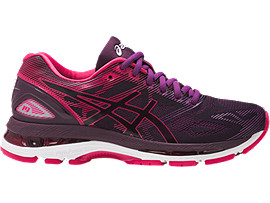 GEL-NIMBUS 19 PARA MUJER, Black/Cosmo Pink/Winter Bloom
