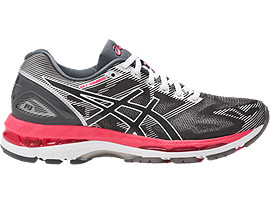 GEL-NIMBUS 19 VOOR DAMES, Carbon/Rouge Red/White