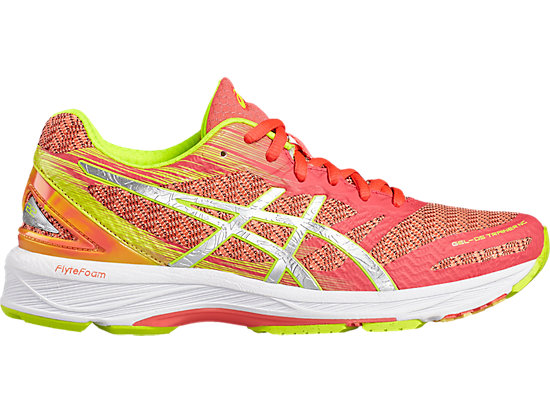 GEL-DS TRAINER 22 LAUFSCHUH FÜR DAMEN, Diva Pink/Silver/Safety Yellow