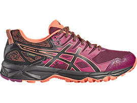 GEL-SONOMA 3 G-TX PARA MUJER, Dark Purple/Black/Flash Coral