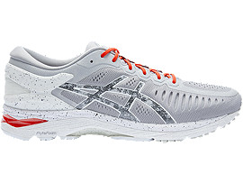 ASICS Metarun Concrete Grey / Shu Red / Hazy White Mujer