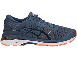 GEL-KAYANO 24, SMOKE BLUE/DARK BLUE/CANTELOUPE