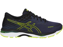 GEL-CUMULUS 19, INDIGO BLUE/BLACK/SAFETY YELLOW