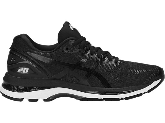 GEL-NIMBUS 20, BLACK/WHITE/CARBON
