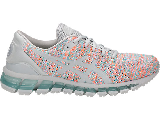 GEL-QUANTUM 360 KNIT 2, GLACIER GREY/ORANGE POP/ARUBA BLUE