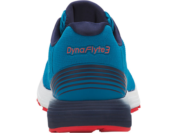 Back view of DYNAFLYTE 3, RACE BLUE/WHITE