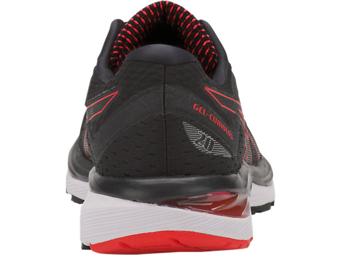 Back view of GEL-CUMULUS 20, BLACK/RED ALERT