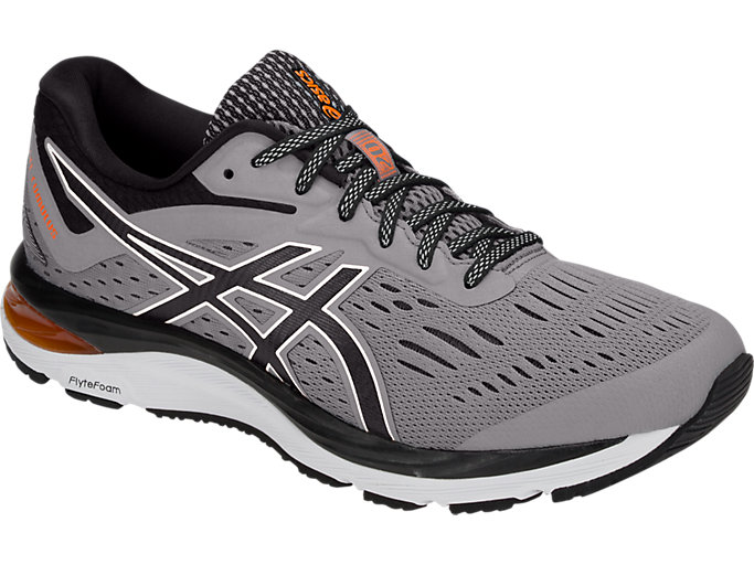 Front Right view of GEL-CUMULUS 20, STONE GREY/BLACK