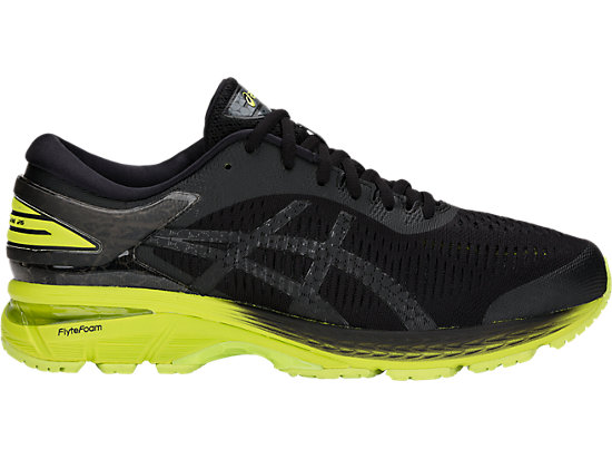 GEL-KAYANO 25, BLACK/NEON LIME
