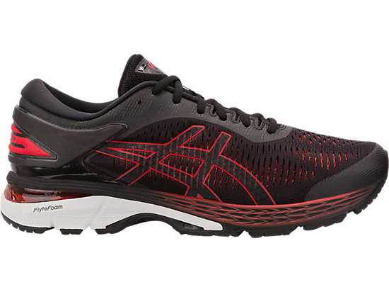 GEL-KAYANO 25, BLACK/CLASSIC RED