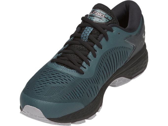 Front Left view of GEL-KAYANO 25, IRONCLAD/BLACK