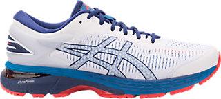 ASICS GEL-KAYANO 25 - Stabilty running shoes - white/blue print