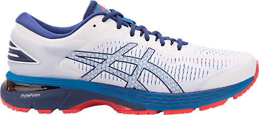 GEL-KAYANO 25 - Stabilty running shoes - white/blue print Free Shipping 100% Authentic Zeul2hOrz