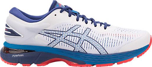 ASICS GEL-KAYANO 25 - Stabilty running shoes - white/blue print AQPyhof92