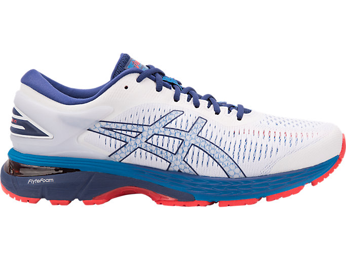 tetraedro Introducir manual  Men's GEL-KAYANO 25 | WHITE/BLUE PRINT | Running | ASICS Outlet