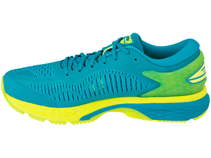 Left side view of GEL-KAYANO 25, LAGOON/DEEP AQUA