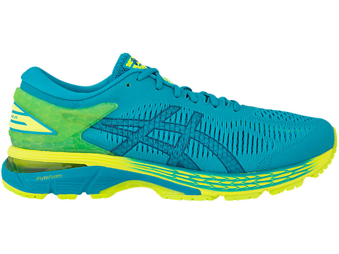 Right side view of GEL-KAYANO 25, LAGOON/DEEP AQUA