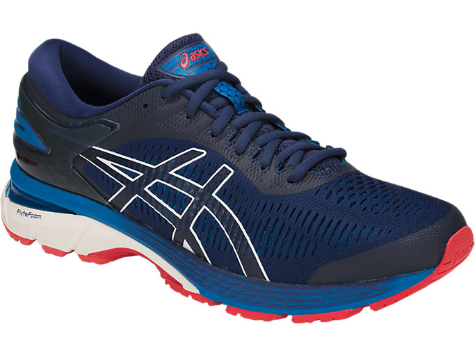 Front Right view of GEL-KAYANO 25, INDIGO BLUE/CREAM