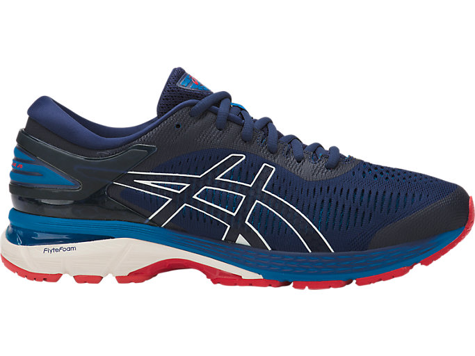 Right side view of GEL-KAYANO 25, INDIGO BLUE/CREAM
