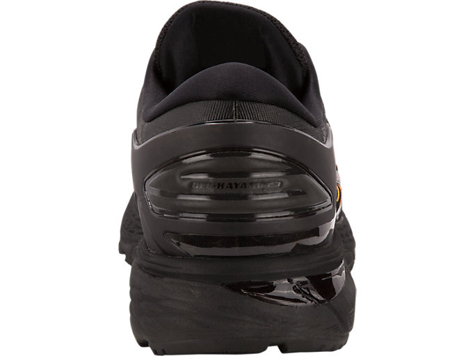 Back view of GEL-KAYANO 25 NYC, BLACK/BLACK
