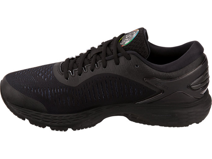 Left side view of GEL-KAYANO 25 NYC, BLACK/BLACK