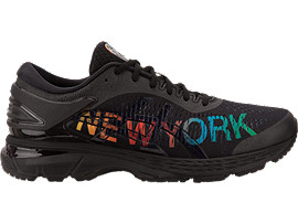 Right side view of GEL-KAYANO 25 NYC, BLACK/BLACK