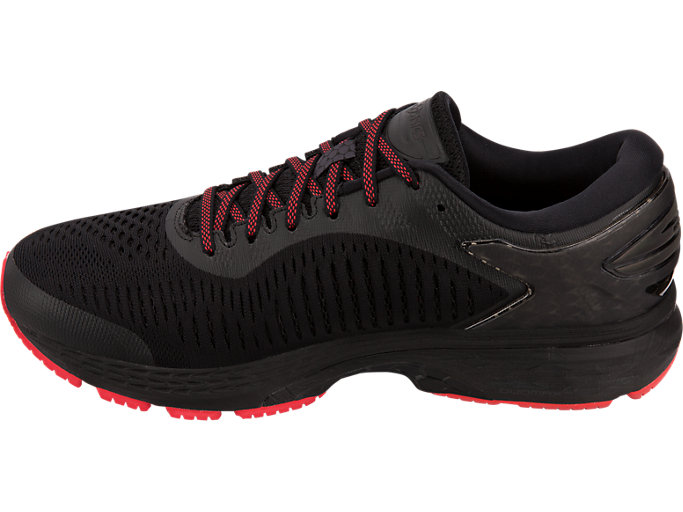 Left side view of GEL-KAYANO 25 LITE-SHOW, BLACK/BLACK