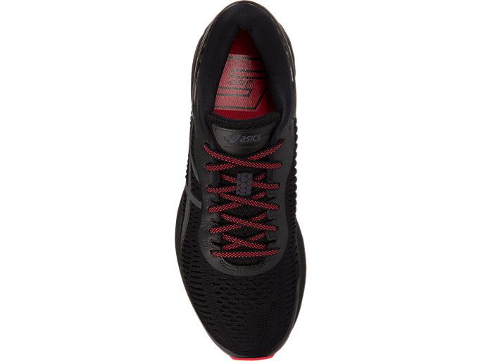 Top view of GEL-KAYANO 25 LITE-SHOW, BLACK/BLACK