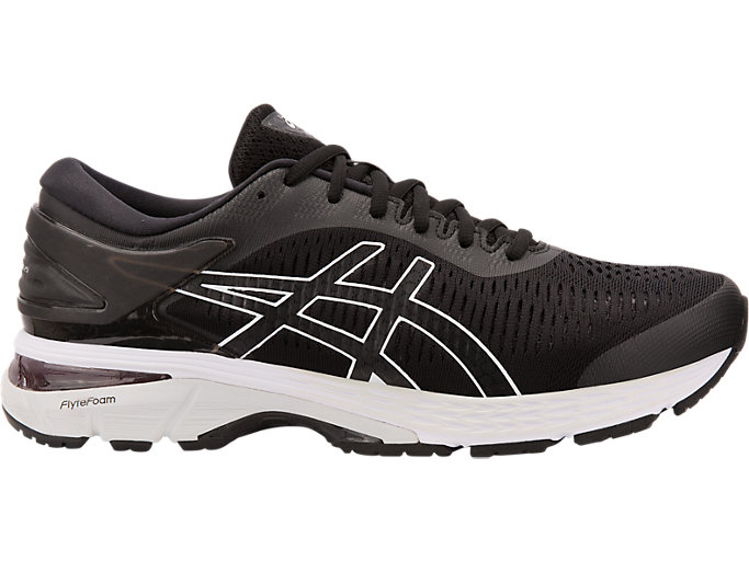 GEL-KAYANO 25 WIDE, BLACK/GLACIER GREY