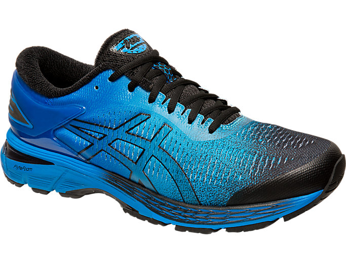Front Right view of GEL-KAYANO 25 SP, BLACK/BLACK