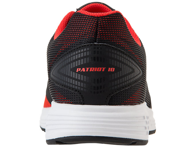 Back view of PATRIOT 10, CLASSIC RED/STEEL GREY
