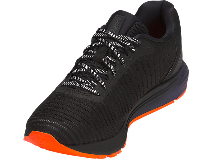 Front Left view of DYNAFLYTE 3 LITE-SHOW, BLACK/SHOCKING ORANGE