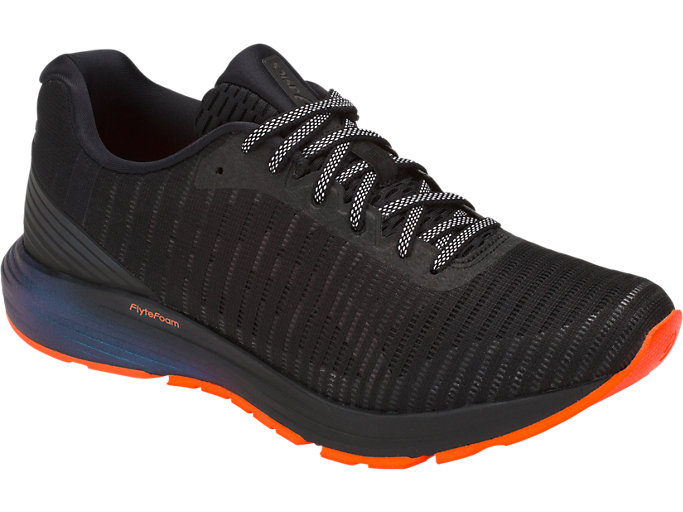 Front Right view of DYNAFLYTE 3 LITE-SHOW, BLACK/SHOCKING ORANGE